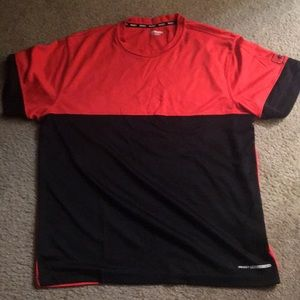 Red and black shirt